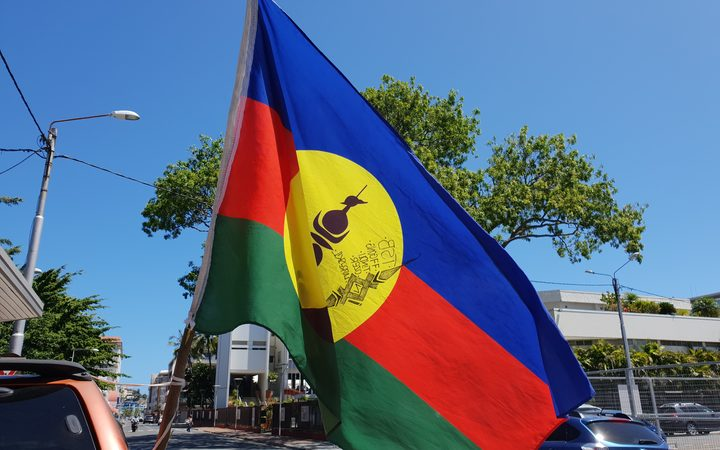 The FLNKS flag widely used in New Caledonia