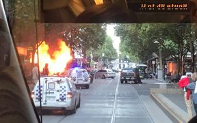 One person has been killed and two others have stab wounds after they were attacked in Bourke Street, where a car was also on fire.