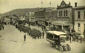 Armistice Day in 1918 at Waimate.