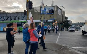 Primary school teachers in Auckland are striking today.