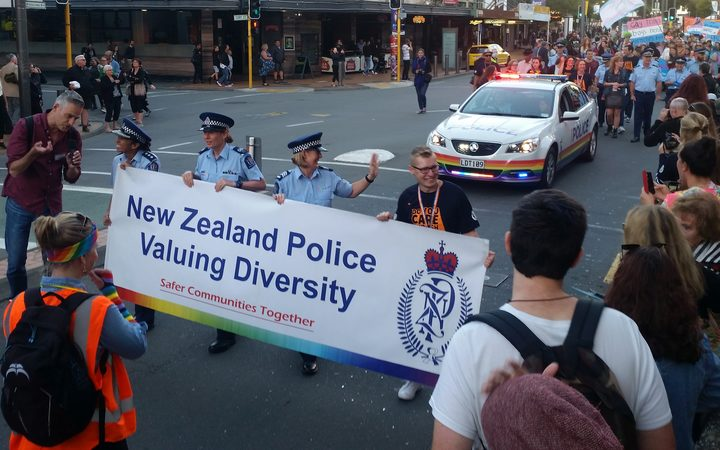 Police at Wellington's Pride Parade