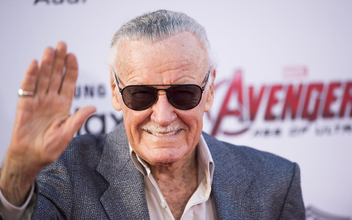 "Stan Lee attends the premiere of Marvel's ""Avengers: Age Of Ultron"" at the Dolby Theatre on April 13, 2015 in Hollywood, California.  AFP PHOTO / ROBYN BECK (Photo by ROBYN BECK / AFP)"