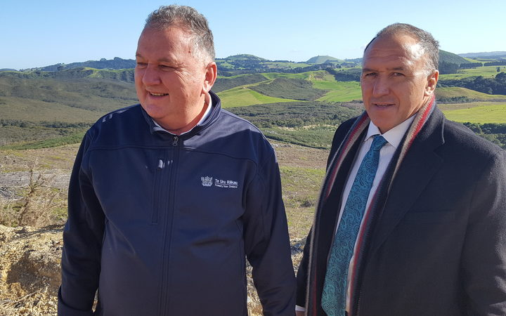 Shane Jones and Pita Tipene at the Ngāti Hine joint venture launch on May 31.