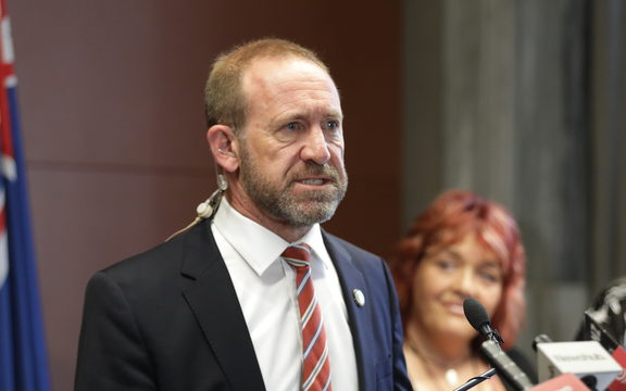 Andrew Little announcing that re-entry to the Pike River Mine drift will go ahead.