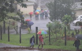 Rain in Fiji during election polling