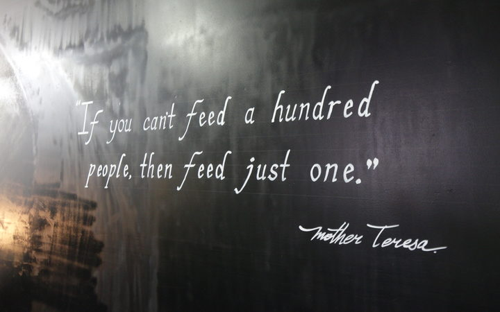 An inspirational quote at Whangārei's new homeless shelter.