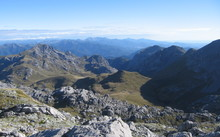 A view from Mt Owen looking west into Kahurangi National Park.