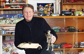 Warwick Henderson,  antique toy collector.