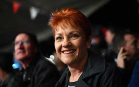 Pauline Hanson at the Birdsville Races in Queensland, 31 August 2018