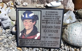 A tribute to Ben Rockhouse who died in the Pike River Mine explosion in on November 19, 2010. CONAN YOUNG / RNZ