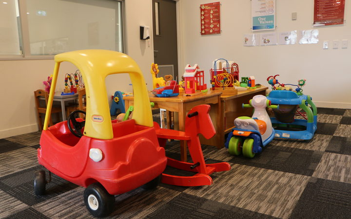 Mangere Refugee Resettlement Centre's waiting area for patients also provides toys for children.