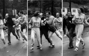 Kathrine Switzer attacked by official at the Boston Marathon 1967.