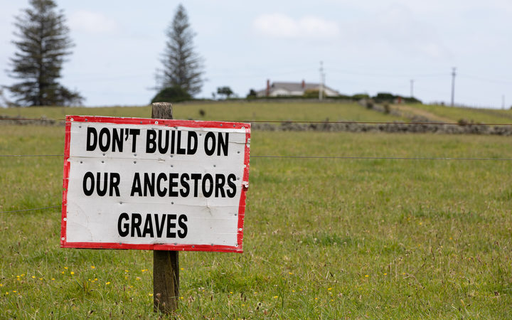 Opponents of a large housing development set to be built next to historic Maori land say they will do whatever it takes to stop it going ahead.