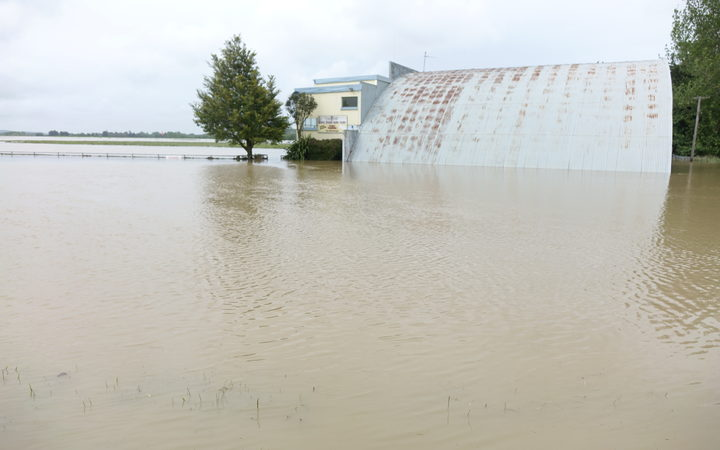 The South Otago Aero Club under water.