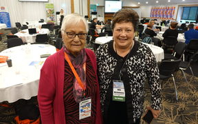Wikitoria Love and Carol Davey at the Kaumatua Service Providers Conference.