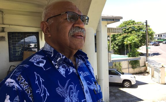 SODELPA leader Sitiveni Rabuka at party HQ on Saturday 17 November