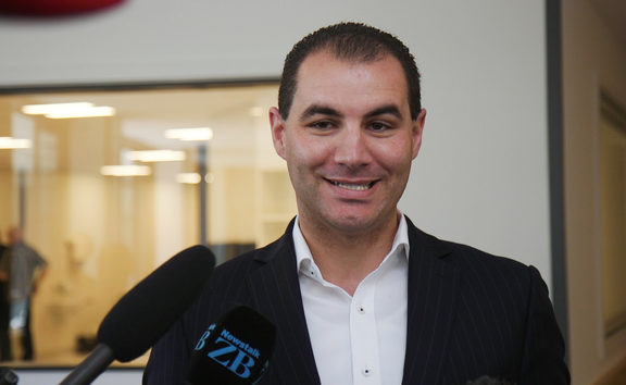Ex-National MP Jami-Lee Ross at his first public appearance since receiving treatment for mental health issues.