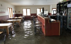 Sewage in the Tap and Dough Bistro in Middlemarch, central Otago.