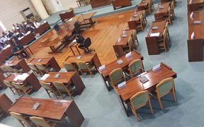 The Vanuatu opposition boycotted parliament this morning forcing the speaker to suspend the sitting until Monday next week. 23 November 2018.