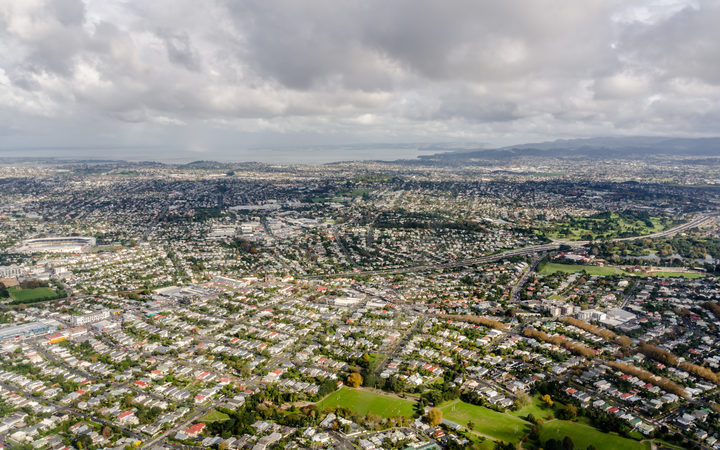 Aerial view of Auckland city, New Zealand