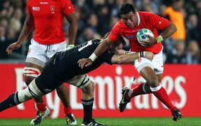 'Ikale Tahi captain Siale Piutau playing for Tonga against the All Blacks during the opening match of the 2011 Rugby World Cup.