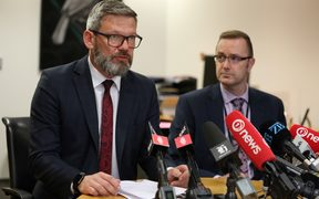 Immigration Minister Iain Lees-Galloway makes an announcement about the case of Czech drug-smuggler Karel Sroubek.
