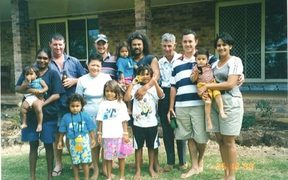 Edward McHugh family in 2000.