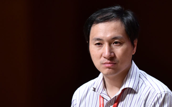 Chinese scientist He Jiankui speaks at the Second International Human Genome Regulation Summit in Hong Kong.