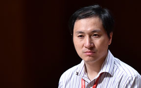 Chinese scientist He Jiankui speaks at the Second International Summit on Human Genome Editing in Hong Kong.