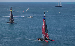 Team New Zealand knock out Artemis in the Louis Vuitton America's Cup Challenger Playoffs final, Day 3.