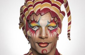 Mike Tyus as The Trickster in Cirque Du Soleil's Kooza