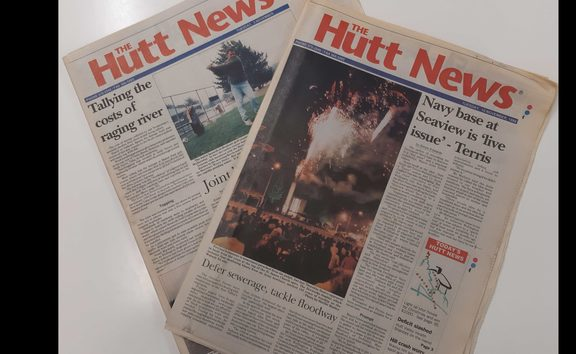 A couple of copies of Hutt News from 1998