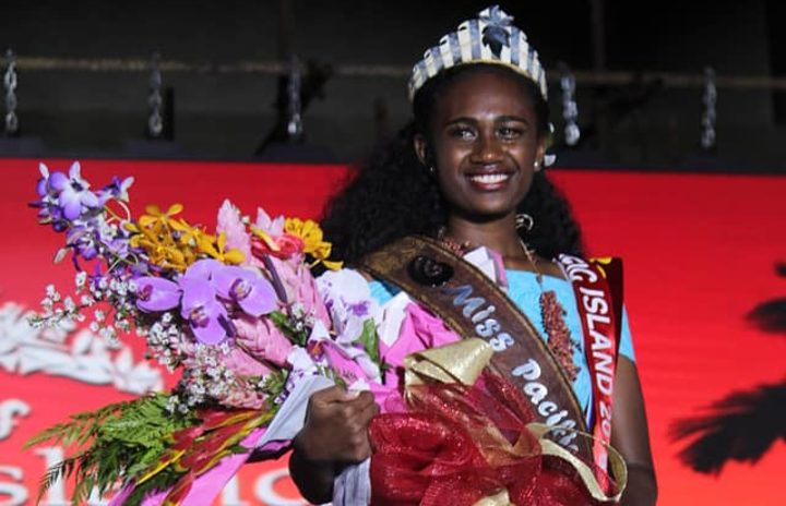 Miss Pacific Islands, Leoshina Mercy Kariha from Papua New Guinea was crowned early this morning at the Atele Indoor Stadium in Tonga. 1 December 2018.