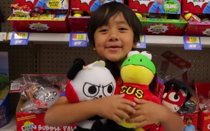 Image result for 8-year-old Ryan ToysReview becomes highest paid YouTuber of 2018
