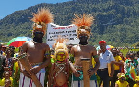 Demonstration against Barrick Niugini at the Porgera mine