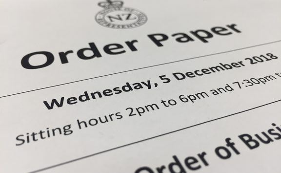 The Order Paper cover for Dec 5th