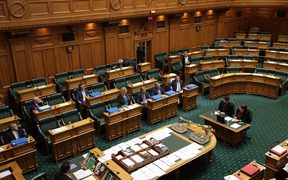 The house empties out as National MPs staged a walk-out.