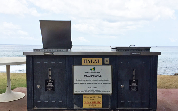 A halal barbecue on Christmas Island
