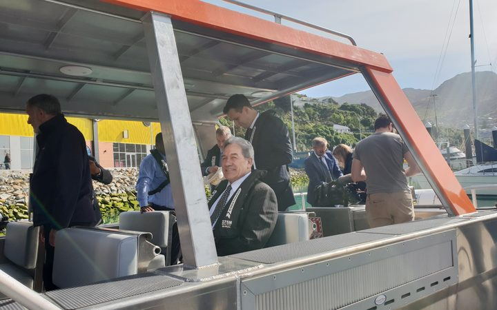 Winston Peters at handover of vessel to Tokelau at Lyttelton on December 7 2018
