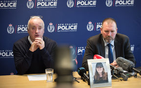 David Millane, the father of missing British woman Grace Millane speaks to the media