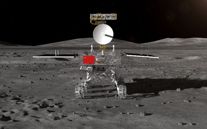 BEIJING, Aug. 15, 2018 (Xinhua) -- The rover for China's Chang'e-4 lunar probe  which is expected to land on the far side of the moon this year, was unveiled Wednesday. The global public will have a chance to name the rover. (Xinhua)