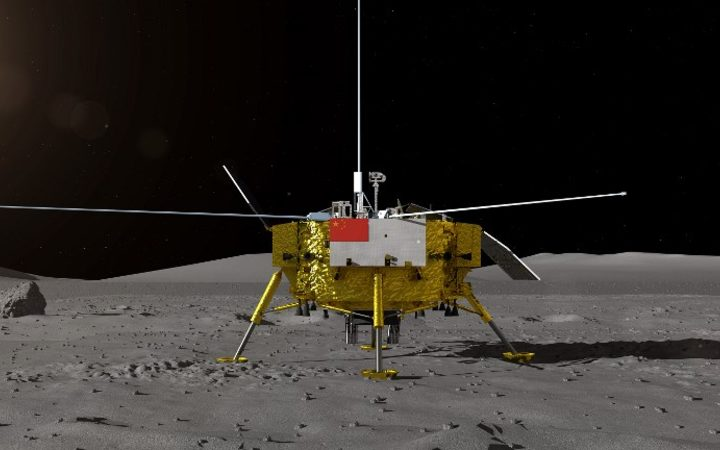 BEIJING, Aug. 15, 2018 (Xinhua) -- the moon lander for China's Chang'e-4 lunar probe. 