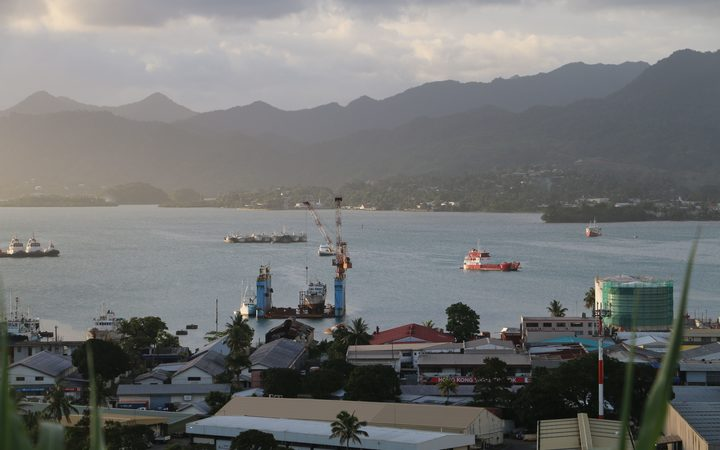 Suva Harbour the capital of Fiji.