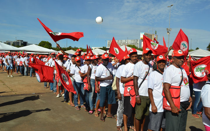 Landless Workers' Movement (MST) gather this week in Brasília to celebrate 30 years of existence and to discuss its aims for the coming years on February 10, 2014. Lucy Jordan / Anadolu Agency