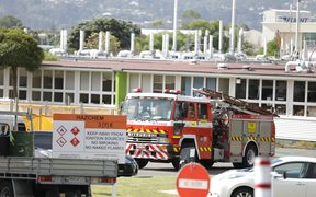 Nine trucks were battling a fire at Callaghan Innovation at Lower Hutt.
