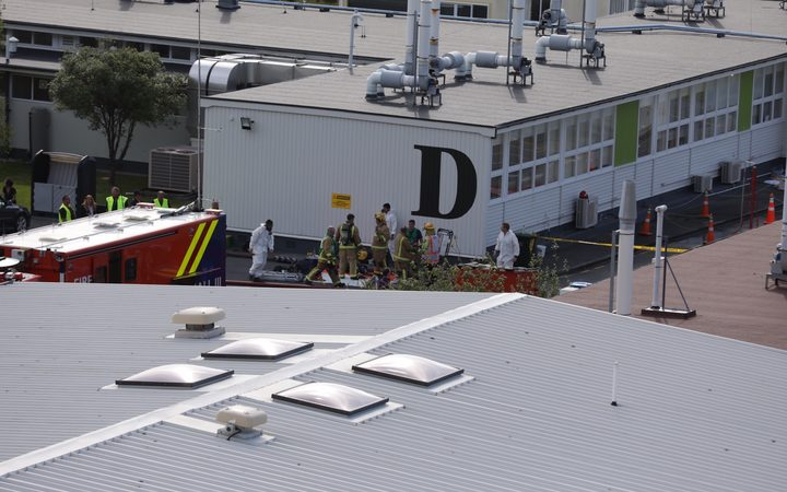A fire broke out at Callaghan Innovation in Lower Hutt.