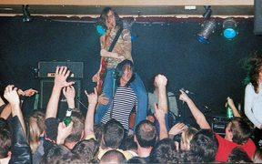 The Datsuns on stage at the Kings Arms in 2002.