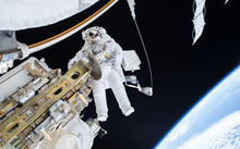 Tim Kopra on a Spacewalk on December 22, 2015