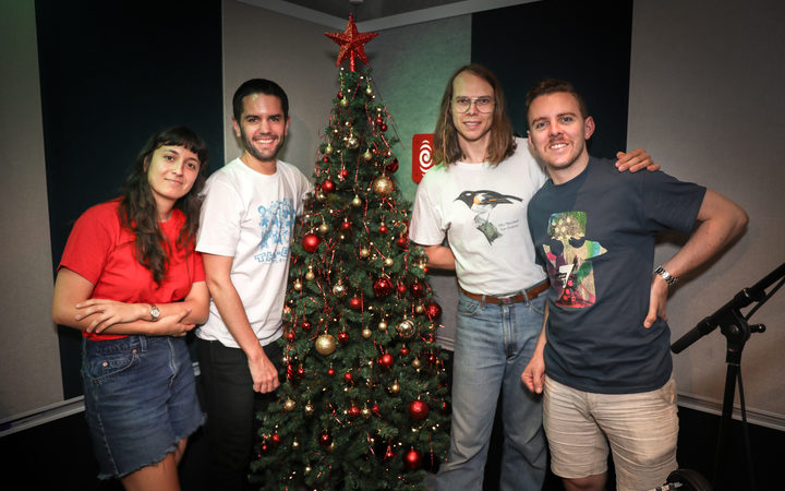The Beths came in the RNZ Auckland studios to play us 'Have Yourself A Merry Little Christmas'