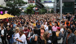 Crowds gather in Auckland for the vigil of Grace Millane.